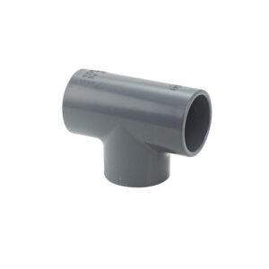 T-Stück PVC grau